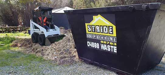 Skip bins for Rockingham and surrounding areas provided by Stride Skip Bins